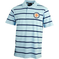 Melbourne City FC Knitted Polo Shirt Size S-5XL! A League Soccer Football!