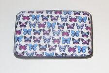 BUTTERFLY Wallet Blues RFID Blocking Butterflies Credit Debit Cards ID New