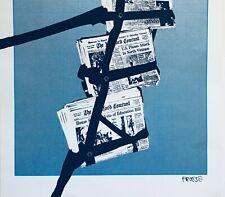 Ultra Rare Silkscreen Print by Listed German Pop Artist Hans Dietrich Froese