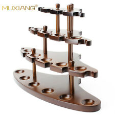 Dismountable Wooden Pipe Stand Rack 15 Tobacco Pipe Holder Pipe Display Solid