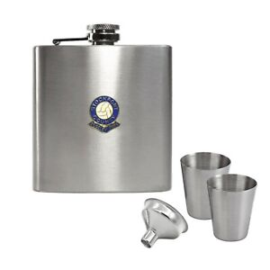 Stockport County football club hip flask gift set