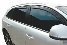 AUDI Q5 SQ5 RS Q5 mk1 2008-2015 wind deflectors 4pc set TINTED HEKO BLACK