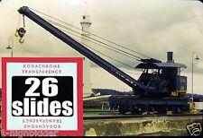 26 Vintage 1952 Kodachrome Color Slide Set Lot Gaton Locks Panama Canal Navy