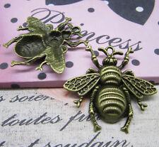 wholesale 6/18pcs Retro Style alloy lovely Little Little bee charm pendant