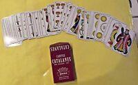 """Ancien jeu 48 cartes CATALANES DOS ÉCOSSAIS """" AXÉ """""""