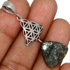 Pyrite In Agate 925 Sterling Silver Pendant Jewelry AP132206 167K