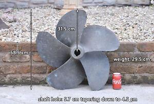 5 - blade boat propeller boat prop brass bronze right handed