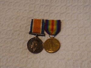 WW1 British War & Victory Medal Pair Coward 10th Bttn KRRC King's Royal Rifle