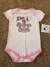 St. Louis Cardinals girls bodysuit size 18 months new with tags, pink STL shirt