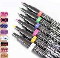 16 Color Nail Art Pen Painting Design Tool Drawing for UV Gel Polish Manicure LI