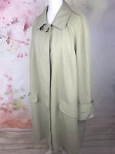 Hensel and Mortensen Navy Camel Nude Trench Longline Coat Belted L XL 16 18 /b3