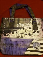 Disney Parks Jack Skellington Buckle Tote Vinyl Shoulder Bag