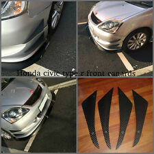 honda civic type r ep3 front bumper canards/honda civic type r ep3 front canards