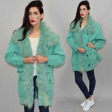 Vintage XXL Blaufuchs Kragen Winter Jacke Anorak Oversize 80er Mikrofaser Parka
