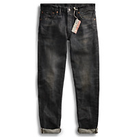 Double Ralph Lauren RRL Mens Slim Narrow Dusty Black Japan Selvedge Denim Jeans