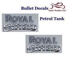Par De Plata De Gas Gasolina Tanque de la etiqueta engomada Enfield placa de logotipo en relieve de gas combustible 3D