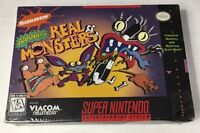 AAH! Real Monsters Nintendo Snes New Sealed First Print Full Color Ultra Rare
