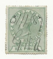 QV Revenue IRELAND Petty Sessions Fiscal Stamp 6d Used Fiscal