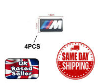 4PC BMW M Sport Performance Alloy Wheel Stickers Decals Badge Gel Gloss domed 3D