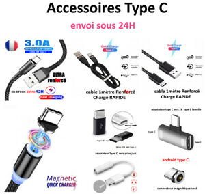 Cable Adaptateur Type C S20/10/9/8 A71/51/41/21/90/80/70/60/50/40/30/20/10/8