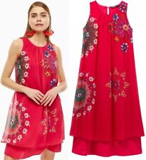 Desigual Sacha Midi Boho Robe Midi Dress - LARGE/XL (L/XL) UK 14 16 EU 42 44