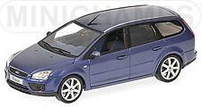 Ford Focus Break Type DA3 2004-08 bleu bleu métallisé 1:43 Minichamps