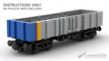 LEGO Trains: Quad-Axled Open Wagon GX02M4 (Custom/MOC) - INSTRUCTIONS ONLY