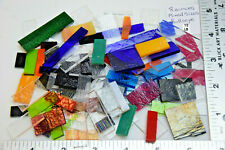 1/2 POUND ASSORTED SIZES & COLOR CHIP/DING BULLSEYE GLASS 90 COE SAMPLE PICTURE