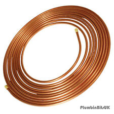 10 Metre Coil of 8mm Table W Microbore Soft Copper Tube 10M Roll TW Cu Pipe