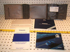 Volvo 2001 S80 Owners's OEM 1 set of 4 Manuals/ Papers Volvo Gray OEM 1 Pouch