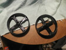 2 Vintage Cast cast iron wheels marked service station equipment co.