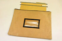 Canvas Steam Leather Look Tan CASE BAG Storage Toiletries Papers Laundry Odd FK