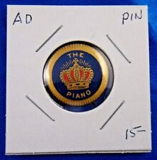 The Crown Piano Pianos & Organs Geo. P. Bent Advertising Pin Pinback Button 7/8""