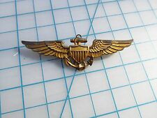 WW2 US Navy Pilots Wing Full Size 2 3/4   inch Pin Back Balfour superb patina