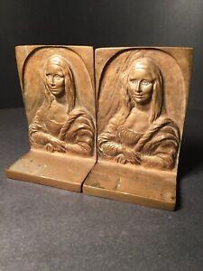 Solid Bronze Mona Lisa BookEnds