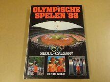 BOEK / BEN DE GRAAF - OLYMPISCHE SPELEN '88 SEOUL-CALGARY