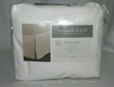 Charter Club Twin Bed Skirt Damask Solid Beige 16 in Drop Bedding