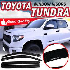Fits 07-18 Toyota Tundra Crewmax Cab Tape On Window Visors Shade Dark Smoke Slim