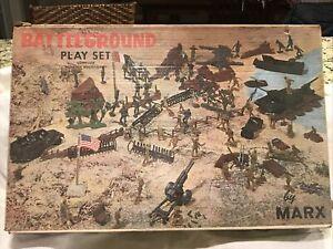 1972 Marx Toys Battleground Play Set #4756 Not Complete