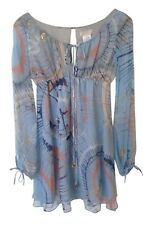 LaROK light blue silk babydoll dress S