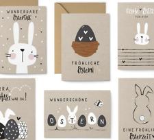 12 Postcards Set - 8 postcards, 4 folding cards with envelopes - Easter