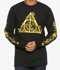 Harry Potter FLORAL DEATHLY HALLOWS Long Sleeve T-Shirt NEW Authentic & Official