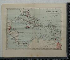 1914 Vintage Stanford Map - West Indies