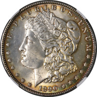 1890-P Morgan Silver Dollar NGC MS63 Nice Eye Appeal Nice Luster Nice Strike