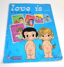LOVE IS... AMORE E' ... 1977 Panini italy sticker book - album figurine incompl