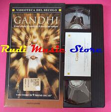 VHS film GANDHI Attenborough VIDEOTECA DEL SECOLO MONDADORI 180 min (F92) no dvd