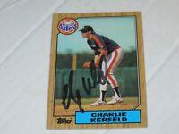 Charlie Kerfeld Autographed Topps Baseball Card
