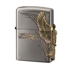 Zippo Harley Davidson Japan Limited HDP-66 Antique Nickel Brass Eagle Metal F/S