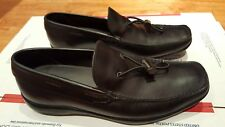 PRADA Mens Black Leather Slip-On Loafers Shoes, US 13 / UK 12, Made in Italy