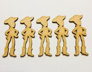 Woody X 5 Toy Story Size 80mm 30mm Craft Blank Laser Cut